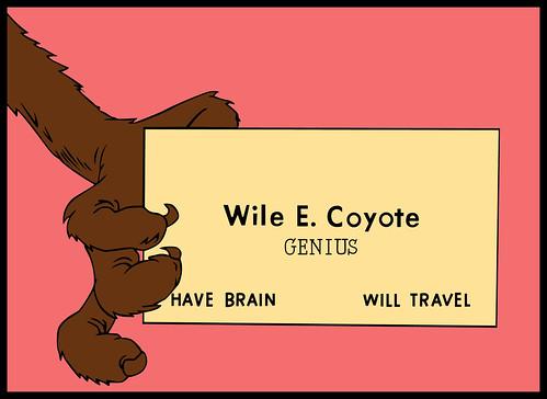 E Card Cartoon Characters : Genius wile e coyote chuck jones redrawn from