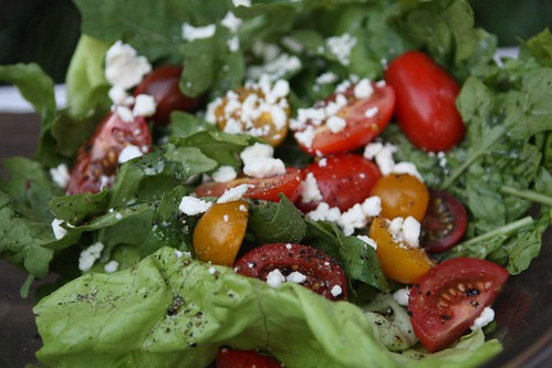 Mixed Greens with Assorted Tomato and Feta | by chefelf