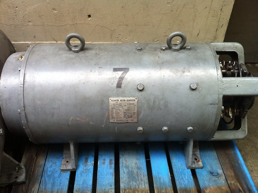 Dc elevator motor generator these are some old for Dc generators and motors