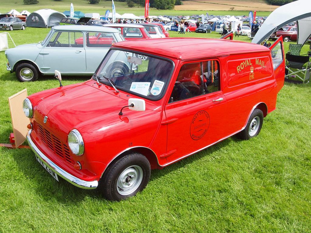 Austin Mini Van Royal Mail Classics At The Castle Sherb