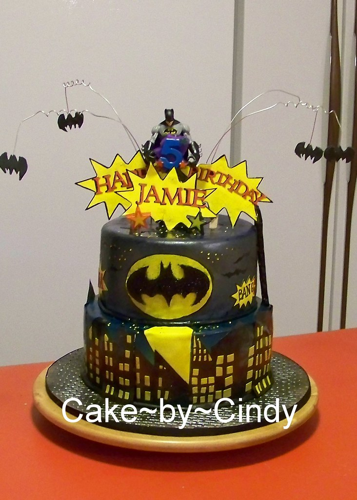Batman Birthday Cake This was for my nephew who celebrate Flickr