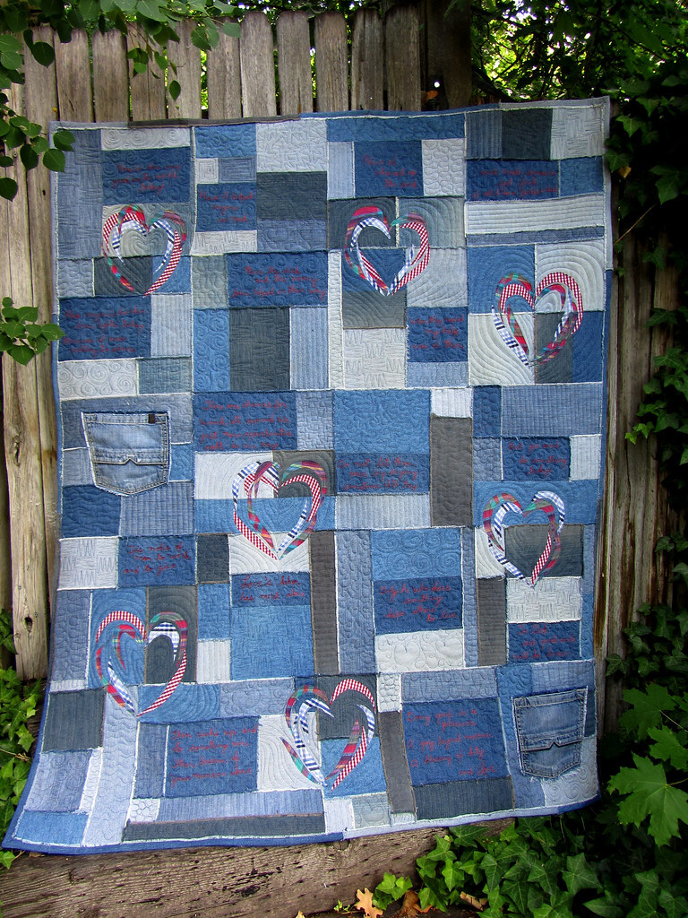 Love Quilt Finished Whole Denim And Mens Shirt Quilt