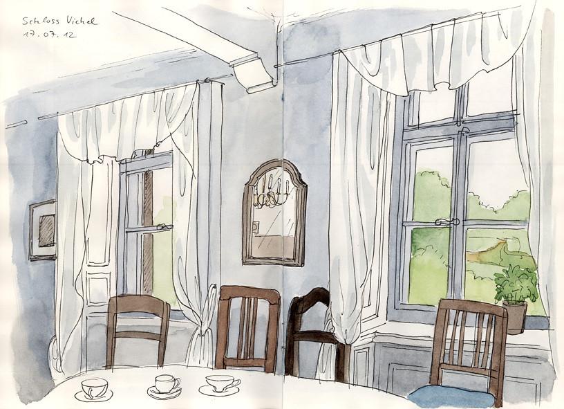 Schloss Vichel, Küche | Einer von fünf renovierten Räumen. H… | Flickr