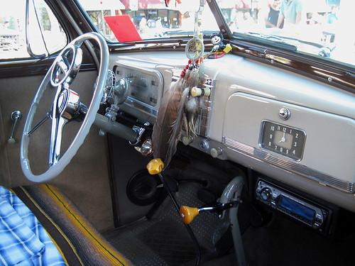 inside the 1940s car on brand nice interior i love the cl flickr. Black Bedroom Furniture Sets. Home Design Ideas