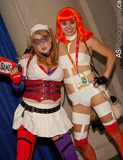 Harley Quinn and Leeloo at Comic-Con SDCC 2012 | by andreas_schneider