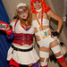 Harley Quinn and Leeloo at Comic-Con SDCC 2012