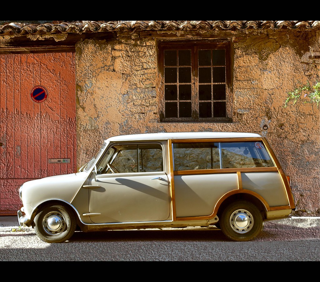 voiture en bois car in wood la mini originale 1959 2000 flickr. Black Bedroom Furniture Sets. Home Design Ideas