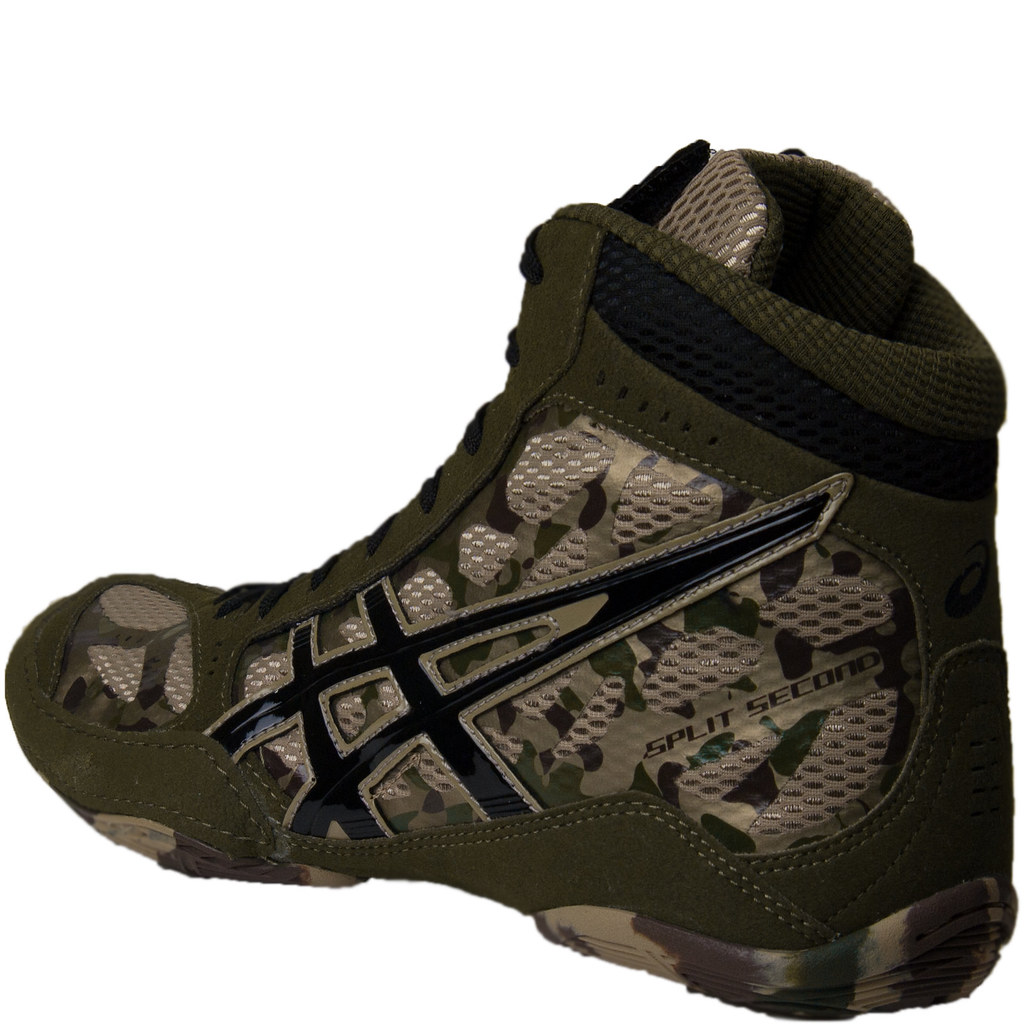 Asics SS9 Camo Wrestling Shoes Khaki Black Army | New for th… | Flickr