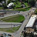 Aerial view of 92nd Avenue Northeast lidded overpass construction
