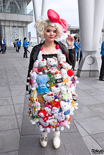 Hello Kitty Dress at Lady Gaga Concert | by tokyofashion