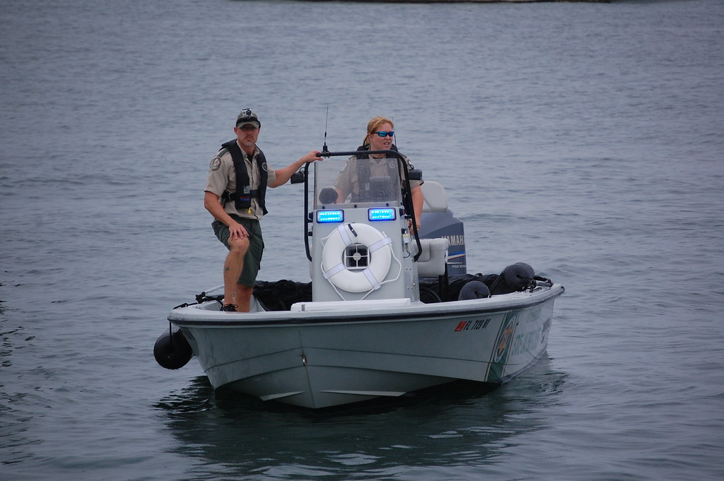 Law enforcement fwc officers wear pfds when on the water for Florida fish and wildlife jobs