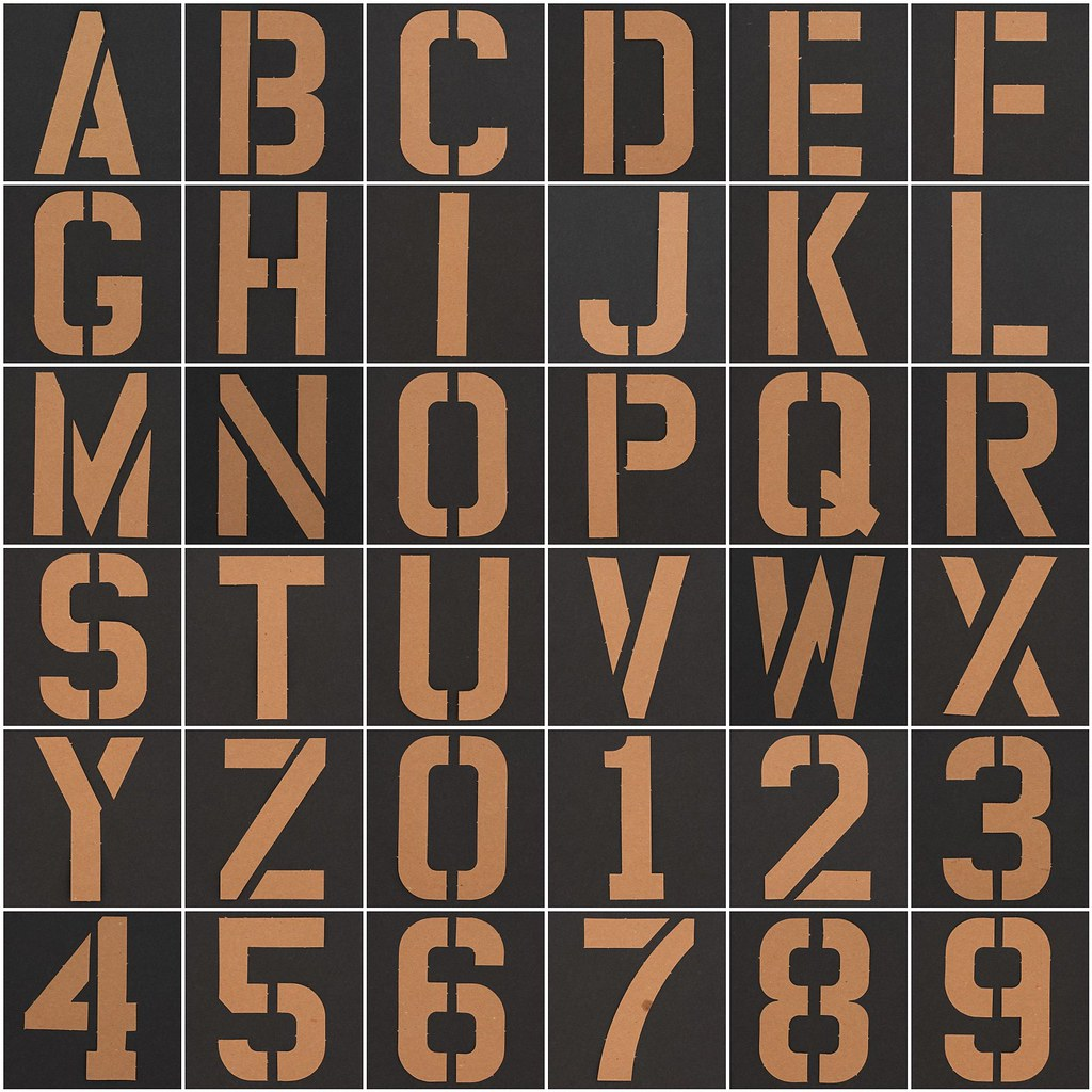 Stencil Letters & Numbers | 1. Stencil Letter A, 2. Stencil … | Flickr
