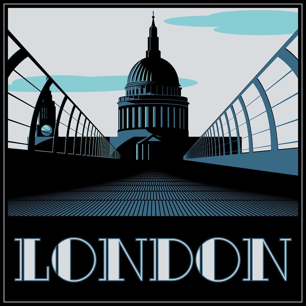 Art Deco Style London Another Take On An Art Deco Travel P Flickr
