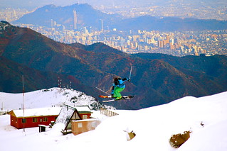 ✌ Skiing over Santiago.✌ | by clicheforu