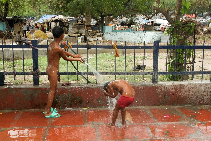 street shower two boys washing themselves on the streets o flickr