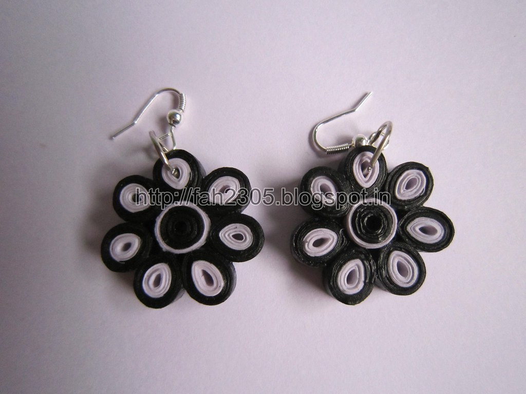 Handmade Jewelry Paper Quilling Flower Earrings 10 Flickr