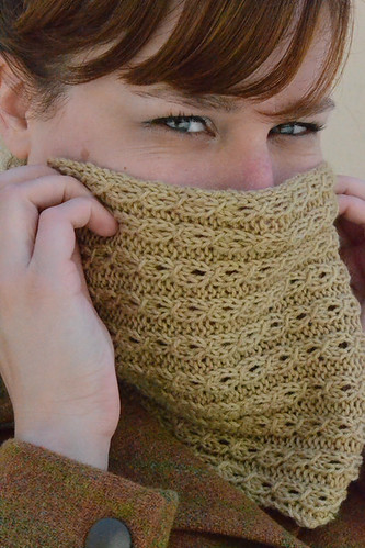 Closeup on Tiny Cables Cowl | by katiecanavan