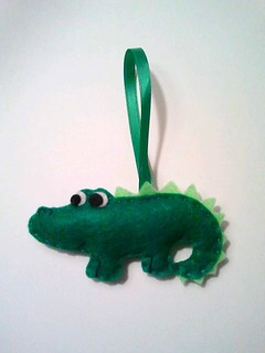 Alexander the Alligator Ornament | by msmegas