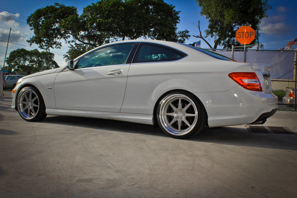 2012 Mercedes C250 Nessen Forged S8 0 19 Quot Lowered H Amp R Spri