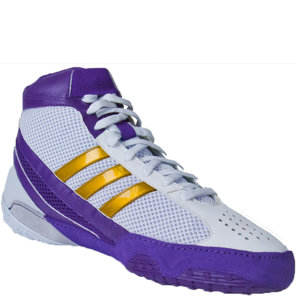 Gold Adidas Wrestling Shoes
