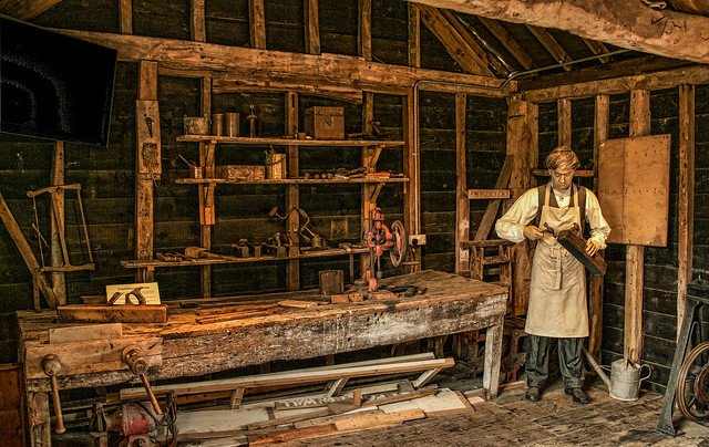 Carpentry Tools In The Old Workshop At Whitchurch Silk