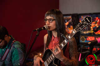 Luz Elena Mendoza of Y La Bamba @ Record Room for Record Store Day 2012 | by Stuart Wainstock Rose City Live