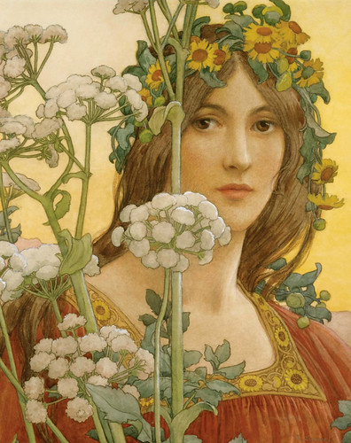 "Elisabeth Sonrel (French, 1874 - 1953), ""Our Lady of the Cow Parsley"" 