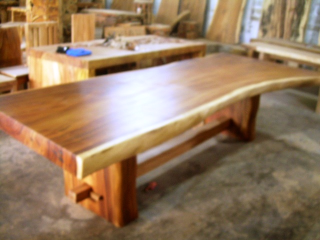 Superieur ... Solid Wood Slab Dining Table | By IndoGemstone