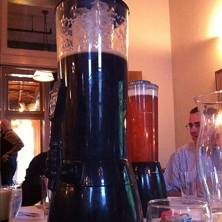 This is how they serve a large jug of beer here. Note the core of ice. | by garydlum