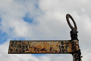 The old road sign on Silver Street | by zawtowers