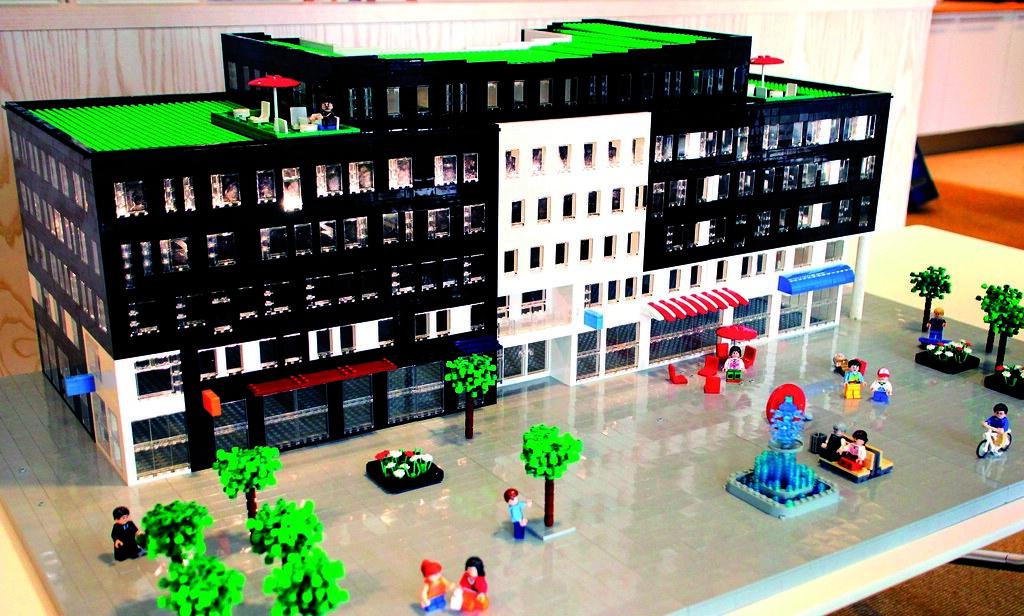 lego office building. a lego model of our new office building in kvarter 11, masthusen, västra hamnen b