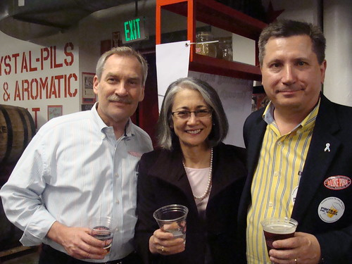 "Pints for Prostates ""Tie One On"" Awareness Event at Pike Brewing in Seattle. 