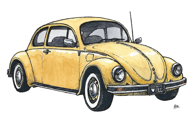 vw beetle | My entry for a Bug Show at the Pence Gallery in … | Flickr