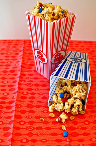 4th of July Marshmallow Caramel Popcorn | by meghensley