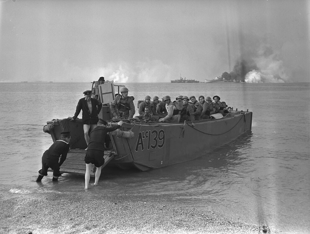 final training exercise prior to assault landing at dieppe
