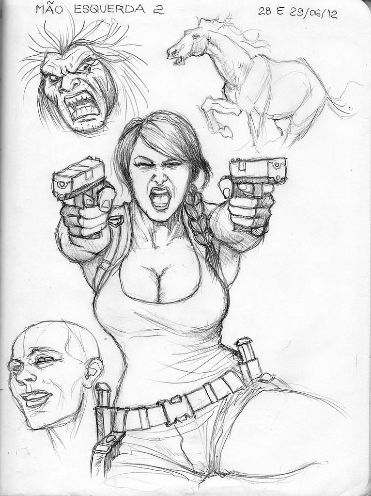 sketch 052 desenhos com a mão esquerda 2 elias de carvalho