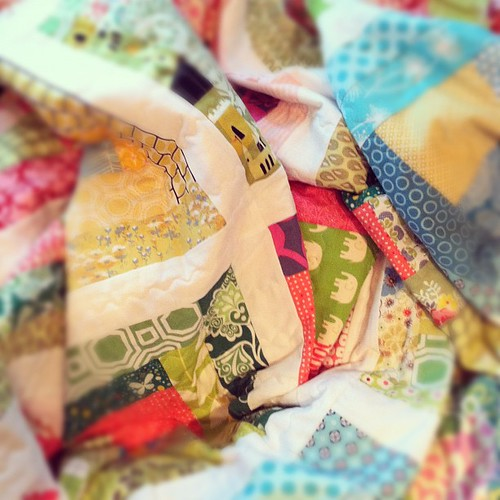 Happiness is finishing a quilt | by Cut To Pieces