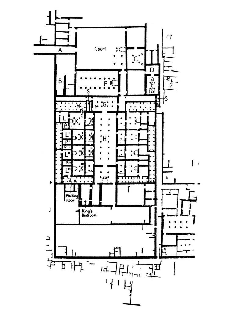 malkata  plano de la casa del rey amenhotep iii