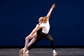 Nathalie Harrison and Eric Underwood in Agon ©Bill Cooper/ROH 2009 | by Royal Opera House Covent Garden