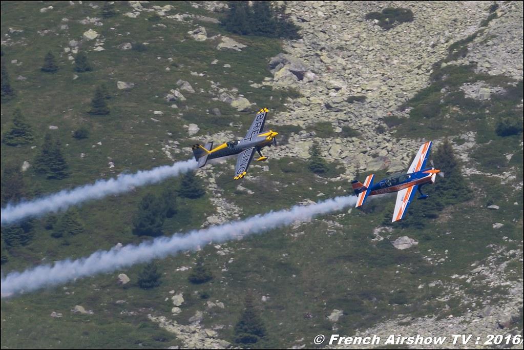 Aude Lemordant & Catherine Maunoury , Extra 330 SC F-HXAL , Extra 300L , F- HCSA , Meribel Air Show , 2016 , meribel airshow , les 3 vallees , Méribel LFKX/MFX