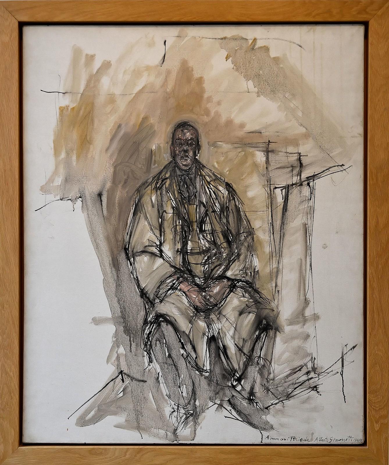 """Le Cateau-Cambrésis (Nord) - Musée Matisse - """"Portrait de Tériade"""" (Alberto Giacometti, 1960)"""
