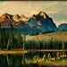 Sunrise on Little Redfish Lake (Idaho Postcard)