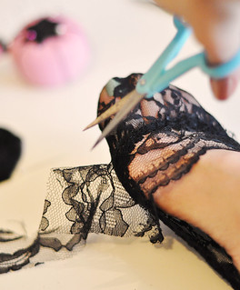 DIY black lace socks socklets-1 | by ...love Maegan