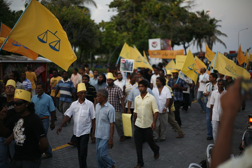 MDP protest calling for elections | by dying regime