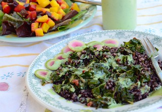 black rice chard salad | by Snappy Shop