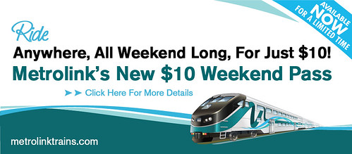 Metrolink Weekend Pass promotion