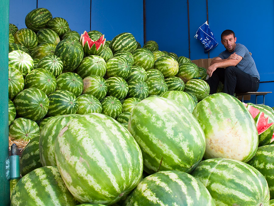 It is easier to imagine 60 full watermelons than 1 watermelon split into infinite parts