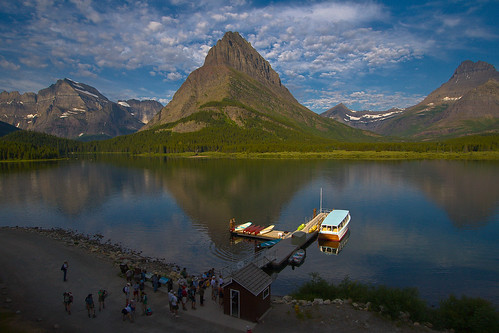 Swiftcurrent Lake at Many Glacier Lodge | by T_smith
