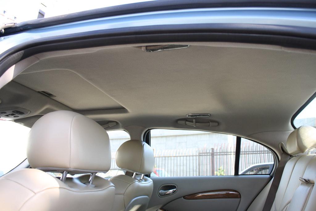 jaguar s type custom seat covers and new headliner batz auto upholstery in los. Black Bedroom Furniture Sets. Home Design Ideas