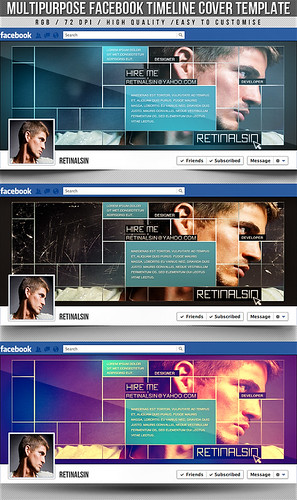 PSD Multipurpose Facebook Timeline Cover | by retinathemes